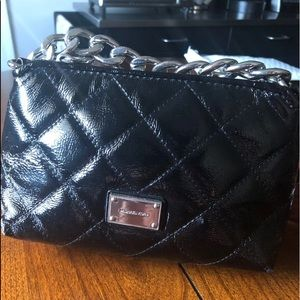 🎈Black Quilted MK Patent Leather Chain Clutch🎈